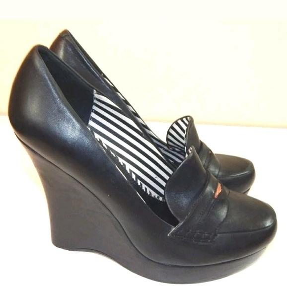 5b1c8de529b L.A.M.B. Shoes - L.A.M.B. Penny Loafer Wedges